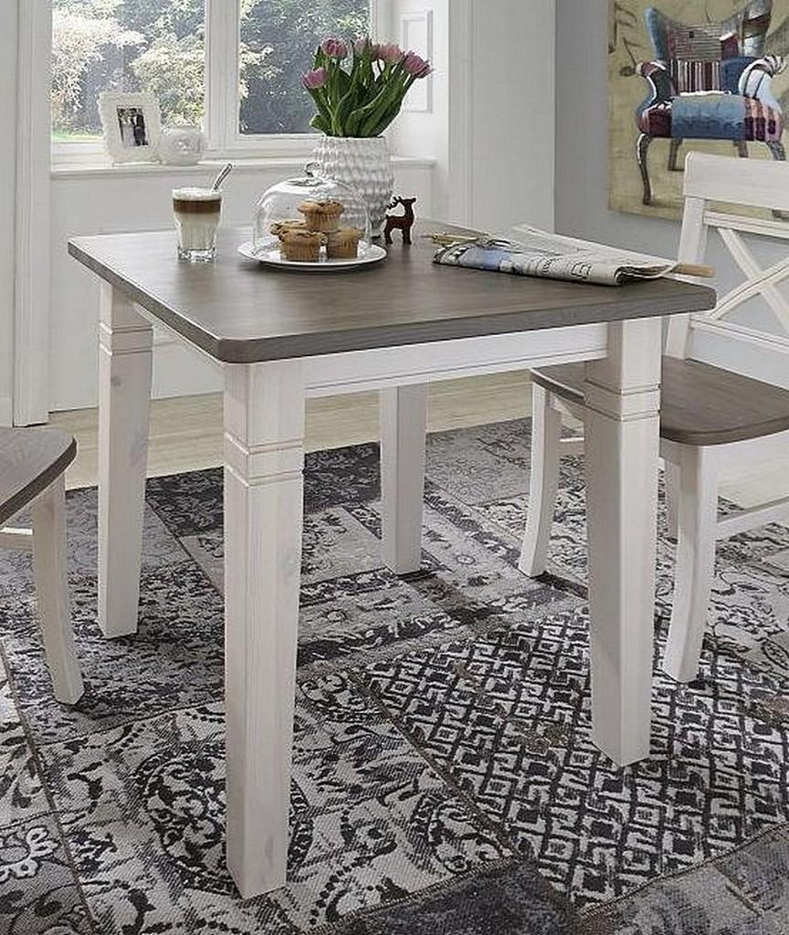 Massivholz k chentisch 78x78 tisch wandtisch kiefer massiv for Tisch kiefer