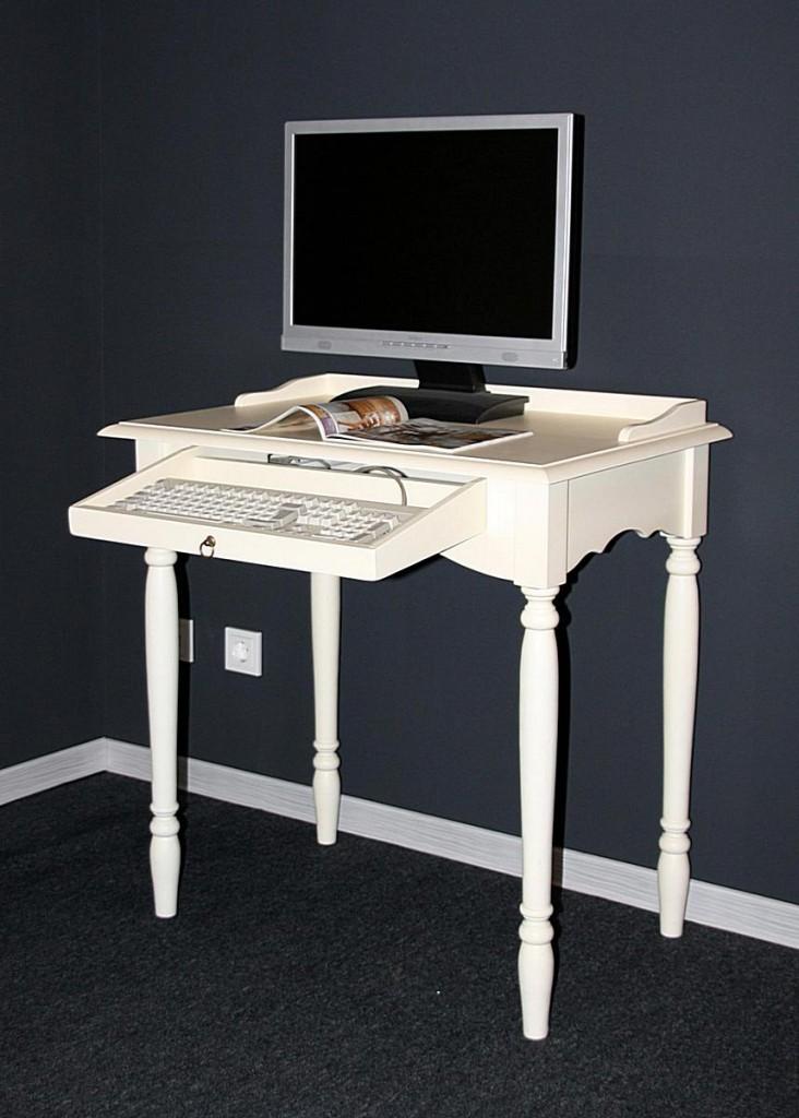 massivholz sekret r mit tastaturauszug computertisch holz massiv creme. Black Bedroom Furniture Sets. Home Design Ideas