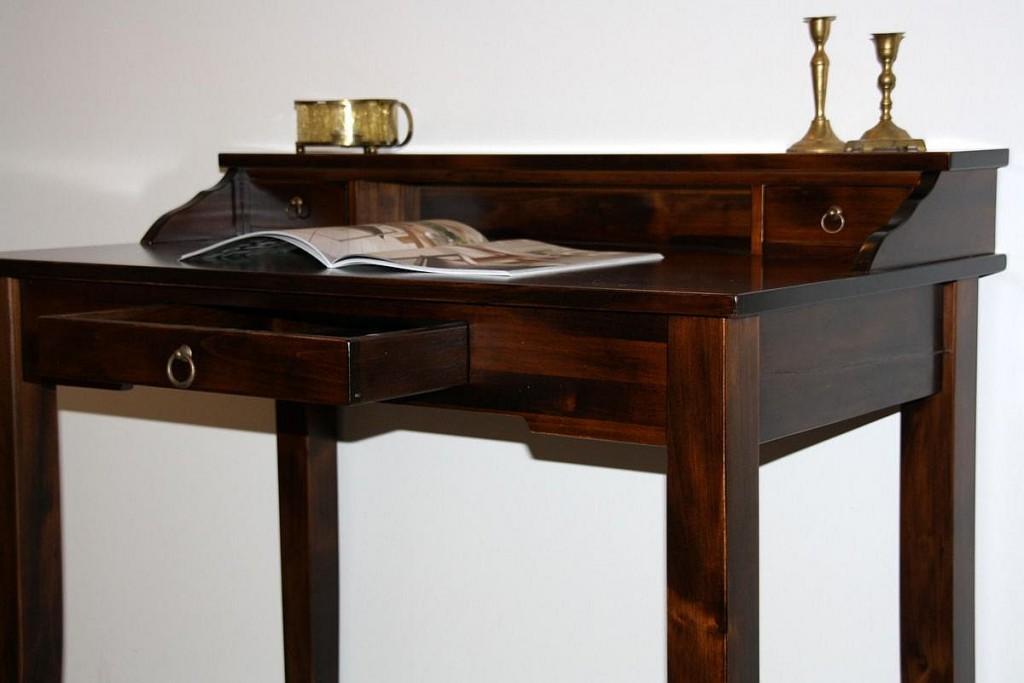 sekret r konsolentisch schreibtisch holz massiv kolonial. Black Bedroom Furniture Sets. Home Design Ideas