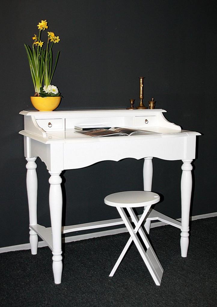 italienischer sekret r wei schreibtisch konsolentisch holz massiv. Black Bedroom Furniture Sets. Home Design Ideas