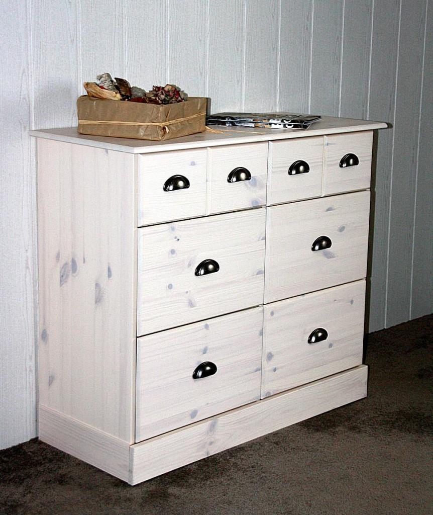 apothekerkommode kiefer kommode mit 6 schubladen massiv. Black Bedroom Furniture Sets. Home Design Ideas