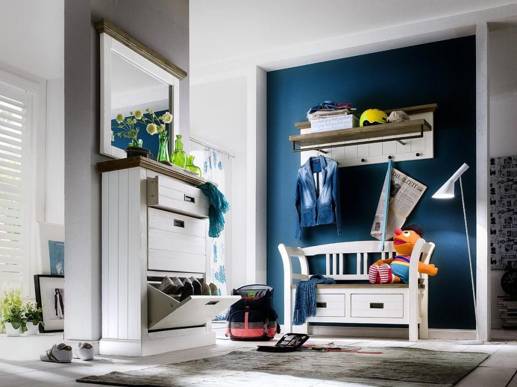 dielen set 4 teilig akazie wei vintage dielenm bel shabby chic. Black Bedroom Furniture Sets. Home Design Ideas