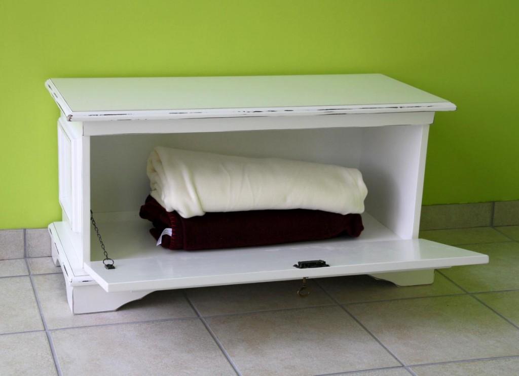 holztruhe wei antik sitztruhe aussteuertruhe schuhtruhe holz massiv shabby chic. Black Bedroom Furniture Sets. Home Design Ideas