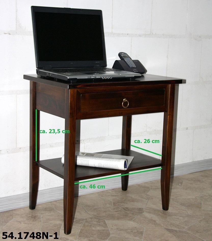Massivholz beistelltisch nachttisch konsolentisch holz for Beistelltisch 80 cm hoch
