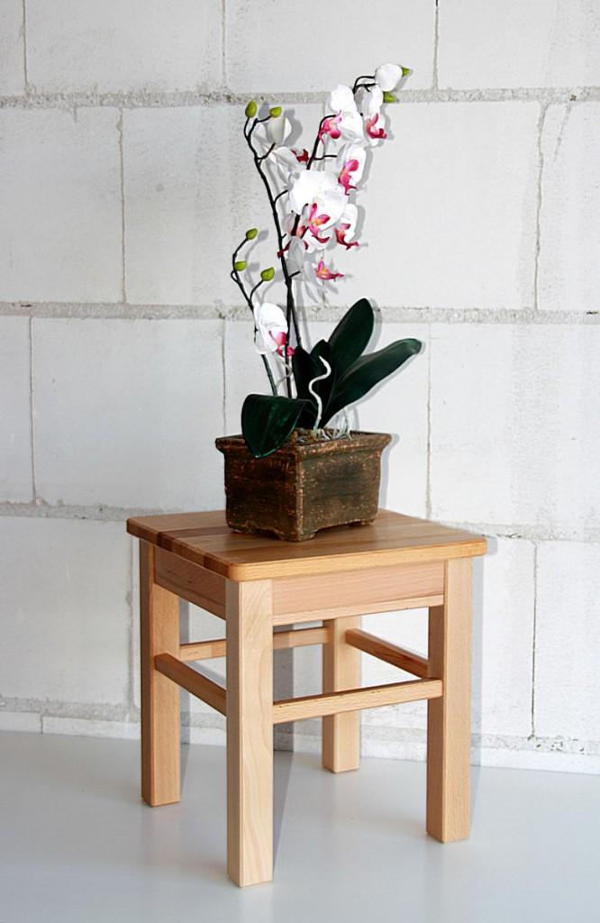 Hocker Beistelltisch Kernbuche Blumenhocker Sitzhocker