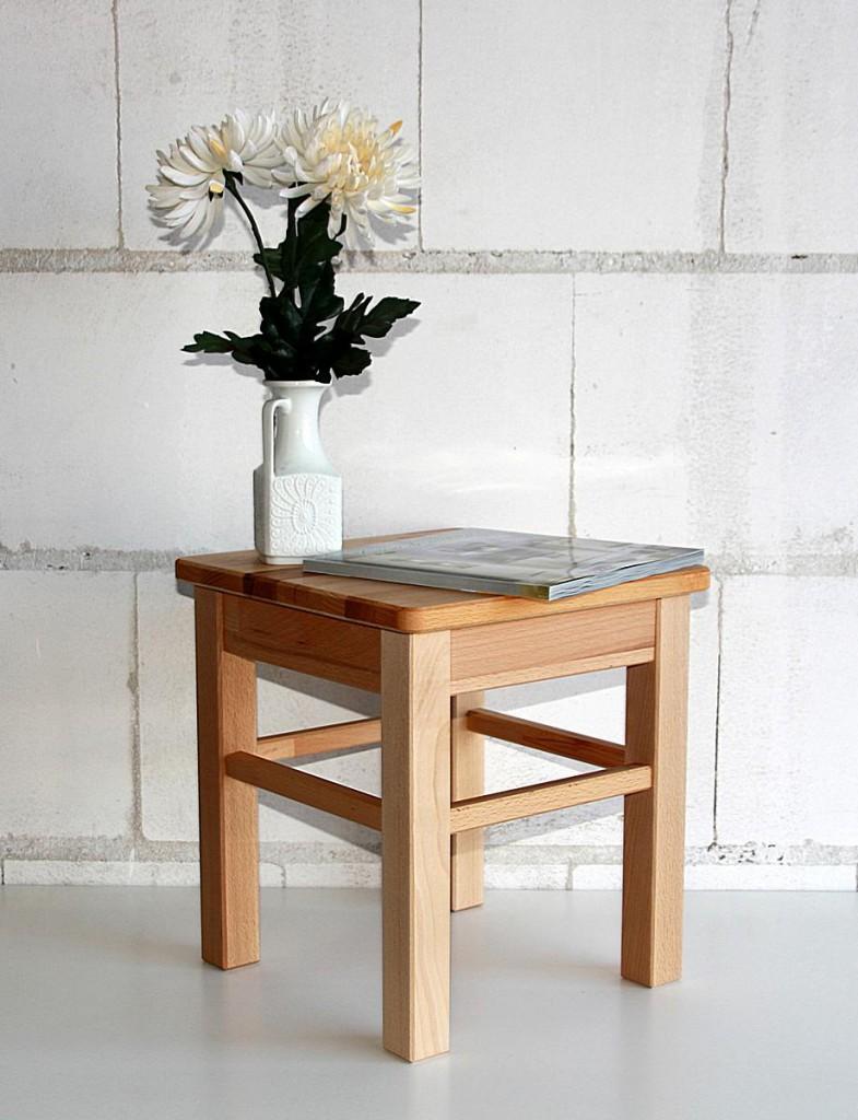 hocker beistelltisch kernbuche blumenhocker sitzhocker buche massiv. Black Bedroom Furniture Sets. Home Design Ideas