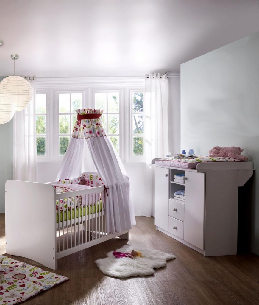 babyzimmer wei lackiert hannover 2 teiliges set kiefer massiv. Black Bedroom Furniture Sets. Home Design Ideas