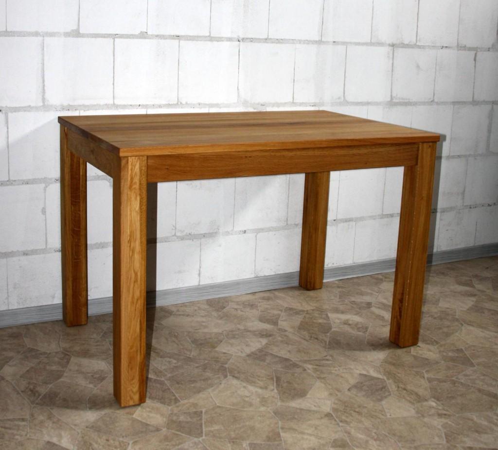 massivholz esstisch 110x70 wildeiche ge lt k chentisch tisch klein schreibtisch ebay. Black Bedroom Furniture Sets. Home Design Ideas