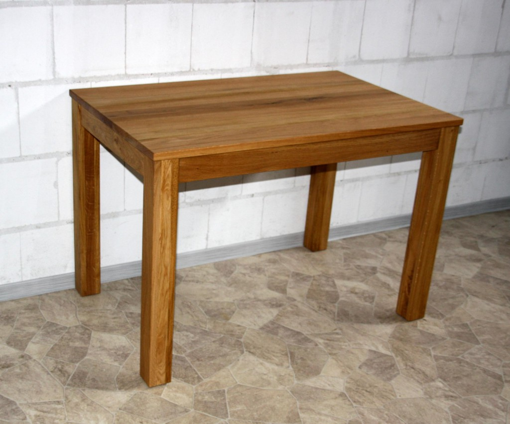 massivholz esstisch 110x70 wildeiche ge lt k chentisch tisch klein schreibtisch. Black Bedroom Furniture Sets. Home Design Ideas