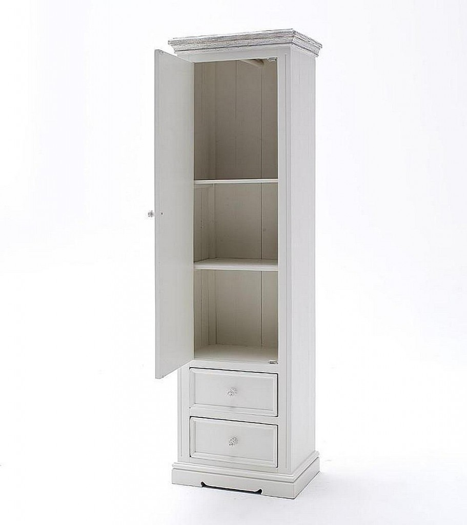 dielenschrank recycling kiefer linksanschlag wei vintage shabby chic. Black Bedroom Furniture Sets. Home Design Ideas