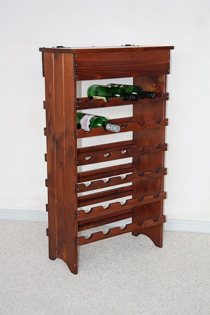 weinregal flaschenregal 30 flaschen holz fichte massiv. Black Bedroom Furniture Sets. Home Design Ideas