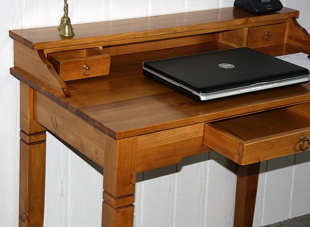 schreibtisch honigfarben lackiert sekret r fichte massiv. Black Bedroom Furniture Sets. Home Design Ideas
