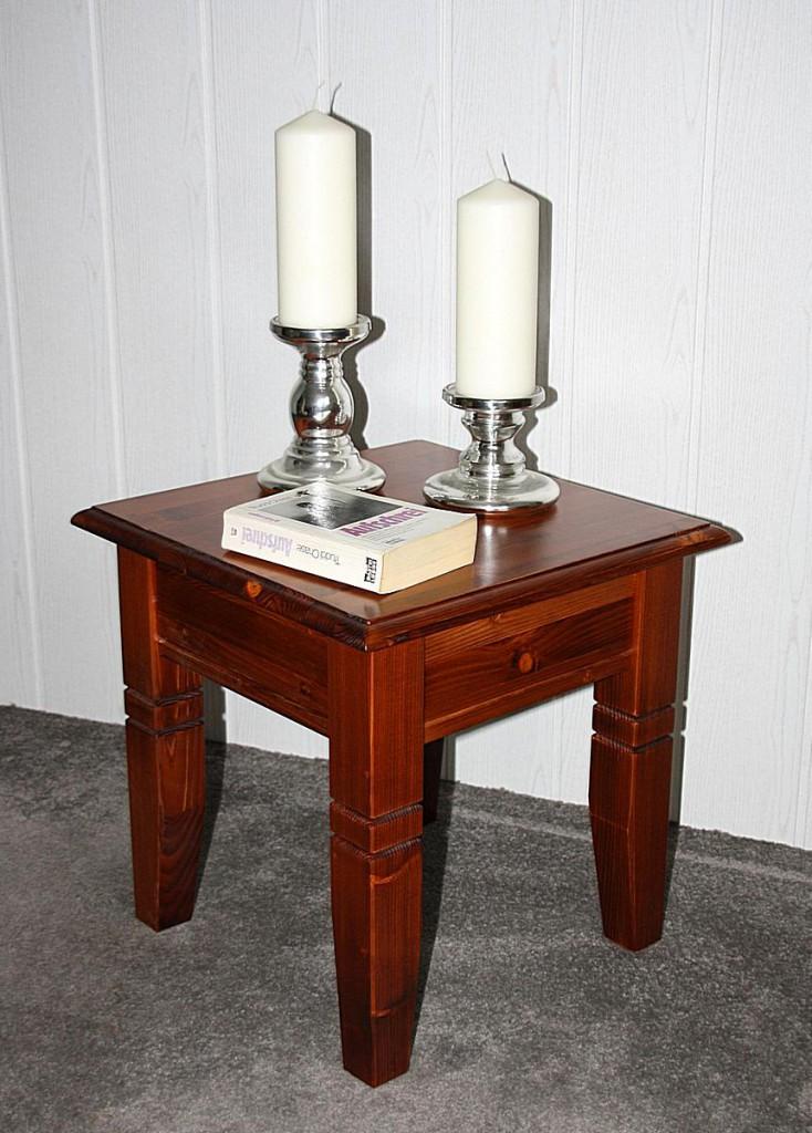 couchtisch quadratisch beistelltisch 45x45cm holz massiv. Black Bedroom Furniture Sets. Home Design Ideas