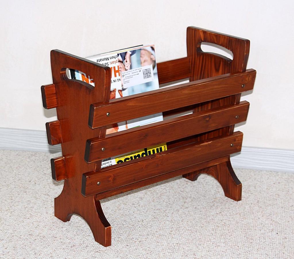 zeitschriftenhalter kirschbaumfarben zeitungsst nder holz. Black Bedroom Furniture Sets. Home Design Ideas