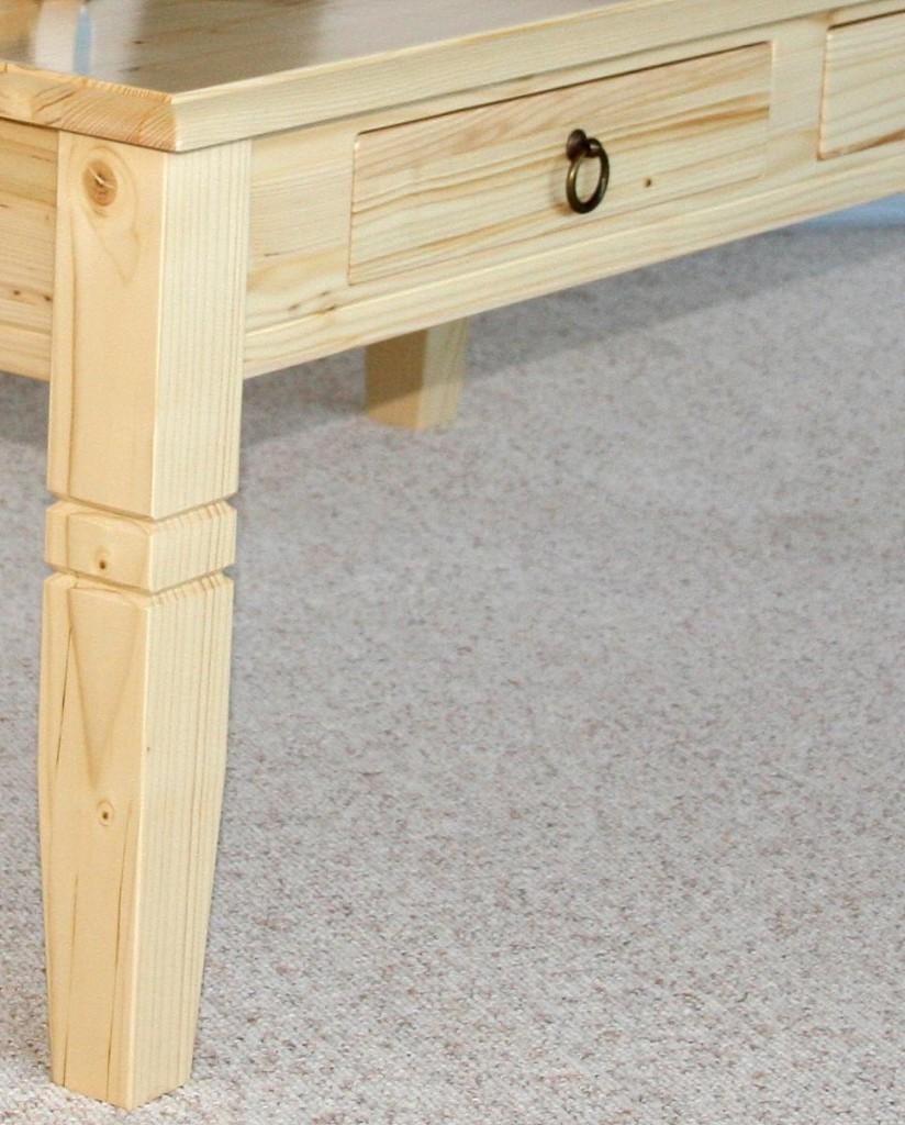 Couchtisch Holz Massiv Wohnzimmertisch 110x65 Natur Lackiert Mit Fichte