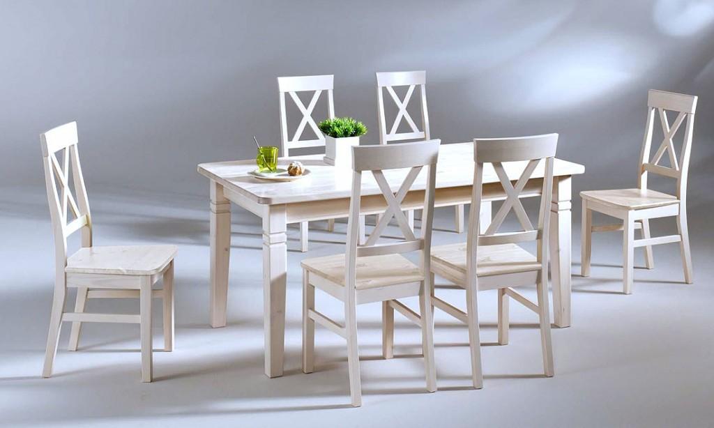 esstisch 120x78 tisch k chentisch kiefer massiv wei lasiert. Black Bedroom Furniture Sets. Home Design Ideas