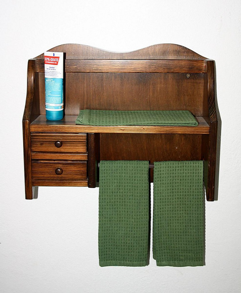 massivholz k chenrollenhalter kolonial 2 schubladen k chenregal handtuchhalter holz. Black Bedroom Furniture Sets. Home Design Ideas
