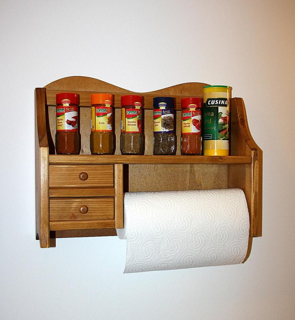 massivholz k chenrollenhalter honigfarben 2 schubladen. Black Bedroom Furniture Sets. Home Design Ideas