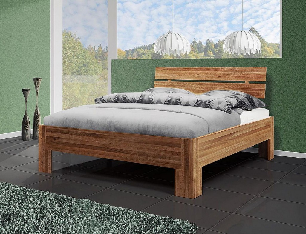 bett 140x200 doppelbett holzbett massiv wildeiche ge lt. Black Bedroom Furniture Sets. Home Design Ideas