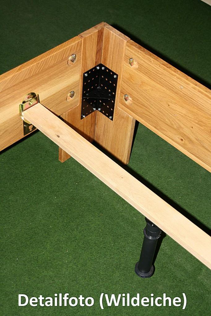 doppelbett 180x200 holzbett massiv bett wildeiche ge lt. Black Bedroom Furniture Sets. Home Design Ideas