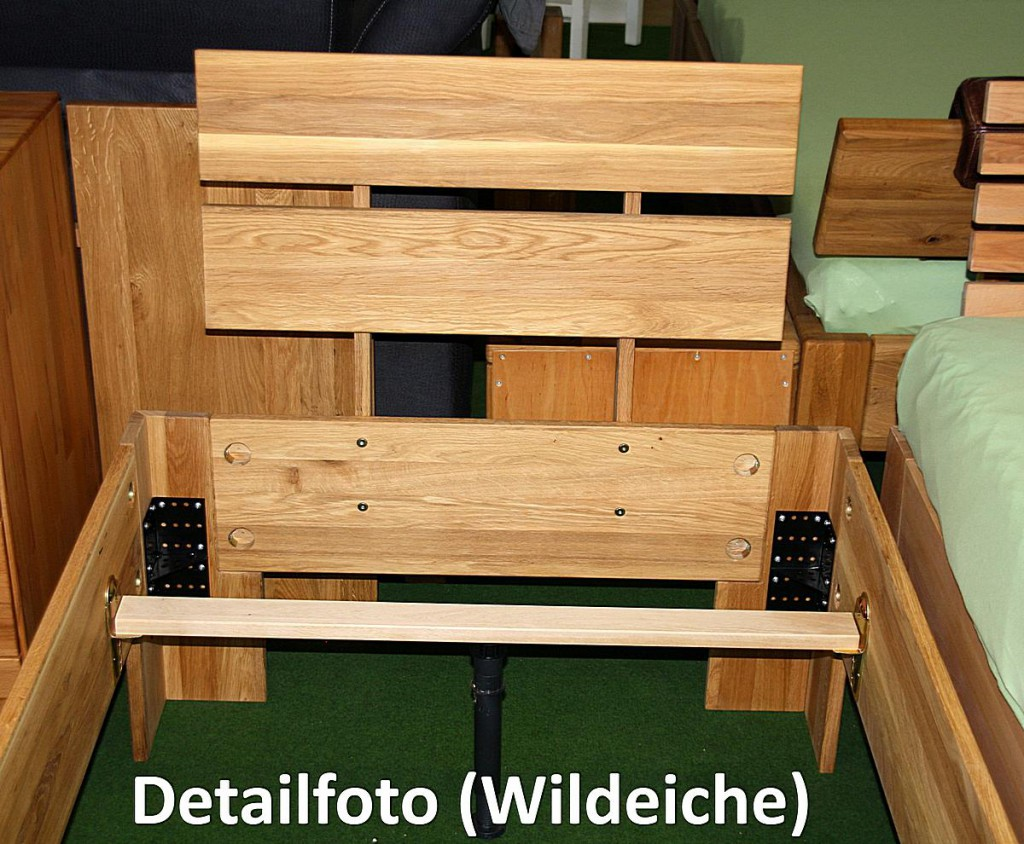 doppelbett 180x200 holzbett massiv bett wildeiche ge lt. Black Bedroom Furniture Sets. Home Design Ideas