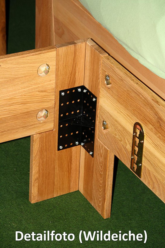 Bett 100x200 einzelbett holzbett massiv kernbuche ge lt for Bett 100x200 massivholz