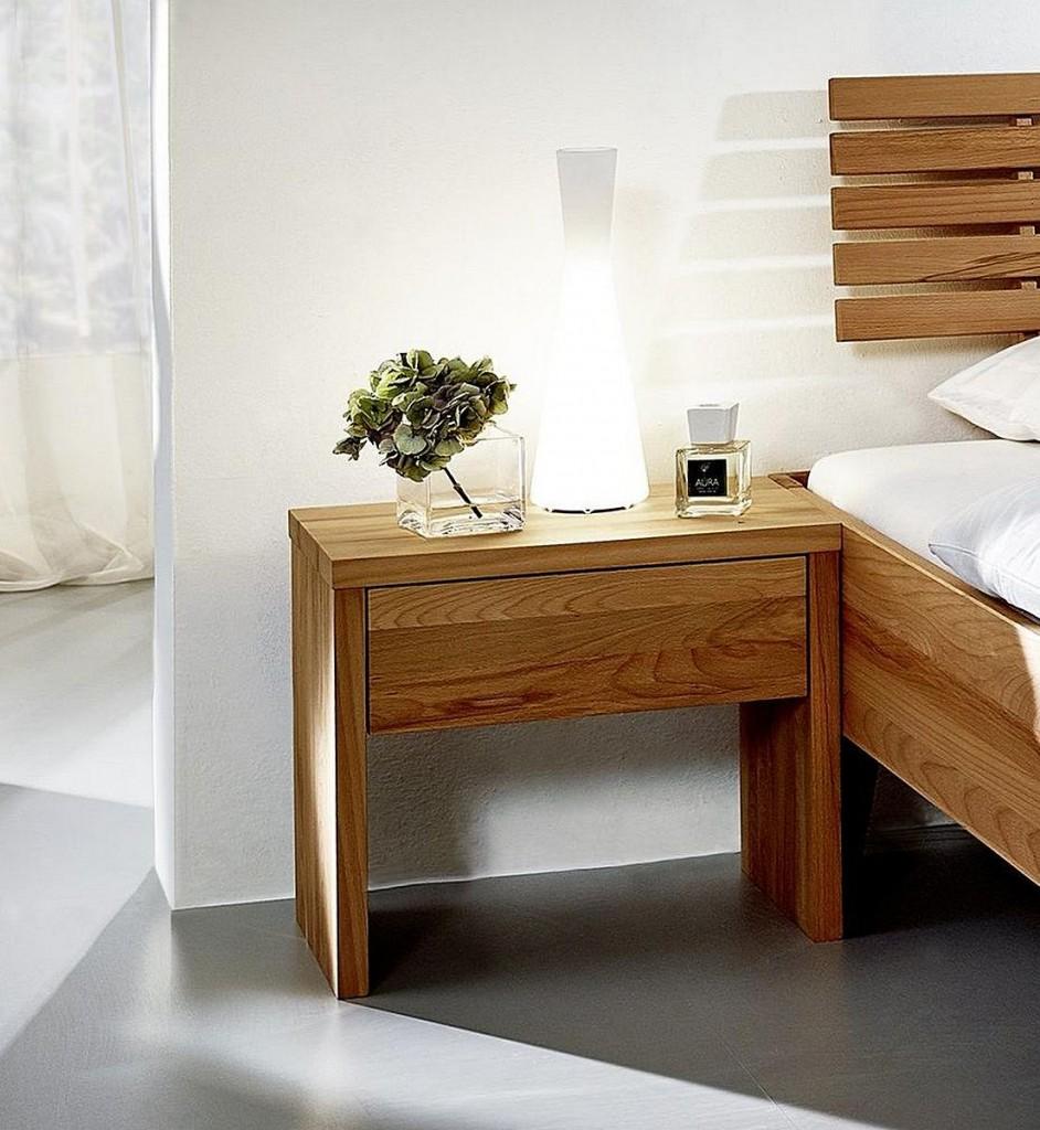massivholz nachtkommode nachtschrank kernbuche ge lt. Black Bedroom Furniture Sets. Home Design Ideas