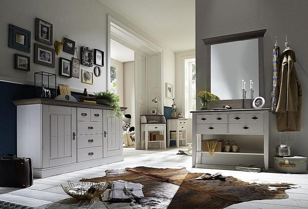 telefontisch konsolentisch 4 schubladen kiefer massiv 2. Black Bedroom Furniture Sets. Home Design Ideas