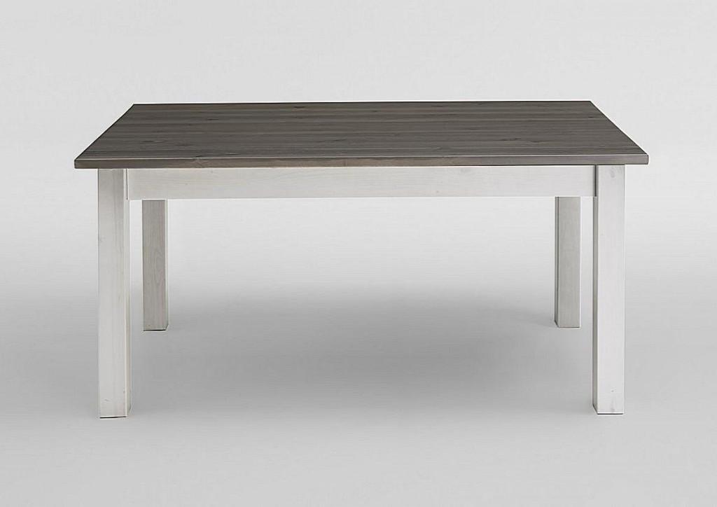 esstisch 78x78 kiefer massiv k chentisch 2 farbig wei grau. Black Bedroom Furniture Sets. Home Design Ideas