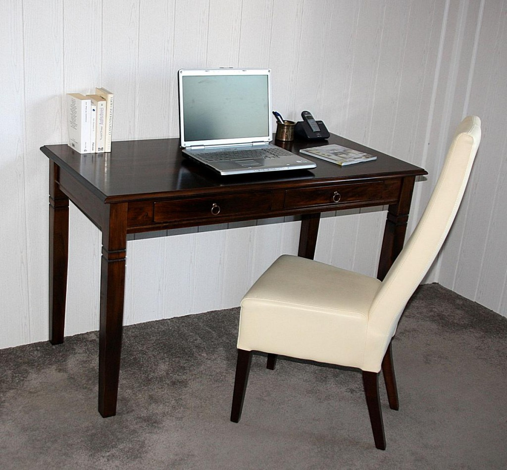 schreibtisch computertisch pc tisch b rotisch braun kolonial massiv holz. Black Bedroom Furniture Sets. Home Design Ideas