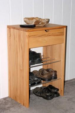 Garderoben schl sselkasten massivholz truhen spiegel 5 for Schuhschrank kernbuche schmal