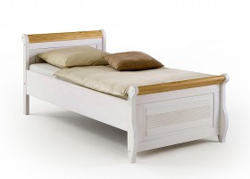 doppelbett 200x200 bett kiefer massiv wei antik kolonial. Black Bedroom Furniture Sets. Home Design Ideas