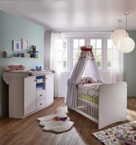 massivholz hochbett spielbett mit vorhang girl buche. Black Bedroom Furniture Sets. Home Design Ideas