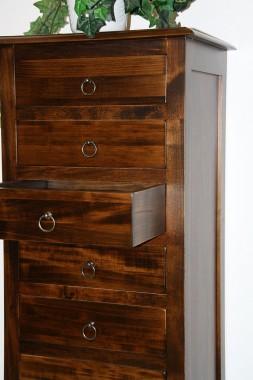 massivholz schubladenkommode kommode mit 7 schubladen holz massiv kolonial. Black Bedroom Furniture Sets. Home Design Ideas