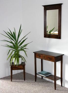 massivholz spiegel mit holzrahmen wandspiegel 60x83 flurspiegel massiv kolonial. Black Bedroom Furniture Sets. Home Design Ideas
