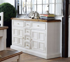 massivholz buffet schrank vitrine vitrinenschrank kiefer. Black Bedroom Furniture Sets. Home Design Ideas