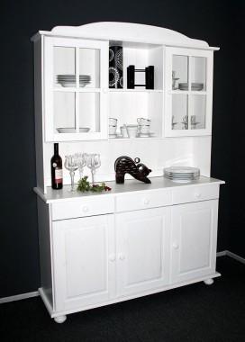massivholz vitrine vitrinenschrank. Black Bedroom Furniture Sets. Home Design Ideas