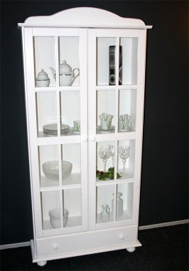 massivholz vitrine vitrinenschrank. Black Bedroom Furniture Sets. Home Design Ideas