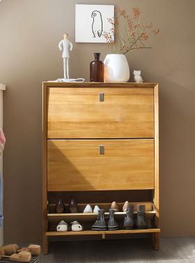 Garderoben schl sselkasten massivholz truhen spiegel 5 for Schuhkommode holz
