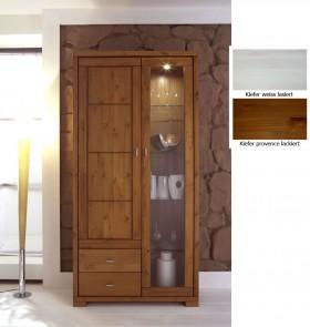 massivholz vitrine vitrinenschrank 3. Black Bedroom Furniture Sets. Home Design Ideas
