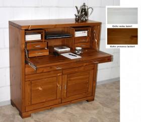 massivholz sekret r auch als barschrank nutzbar schreibschrank mit schubladen klappe f r. Black Bedroom Furniture Sets. Home Design Ideas