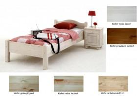 massivholz bett 90x200 jugendbett kiefer hohes fu teil. Black Bedroom Furniture Sets. Home Design Ideas