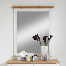 massivholz kommode wandspiegel dielen set wei gelaugt landhausstil. Black Bedroom Furniture Sets. Home Design Ideas