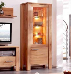 massivholz vitrine vitrinenschrank 2. Black Bedroom Furniture Sets. Home Design Ideas