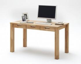 Massivholz schreibtisch mit 3 schubladen computertisch for Kernbuche computertisch