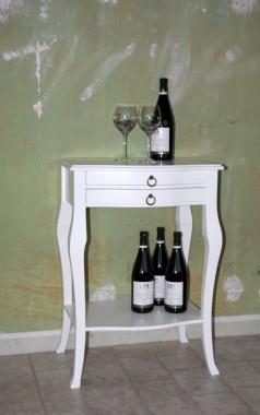 Beistelltisch weiß Wandtisch Konsolentisch Wandkonsole Holz massiv