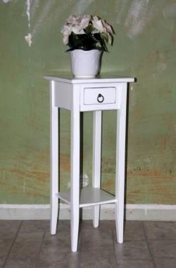 Beistelltisch weiß antik Blumentisch Blumenhocker Dekosäule 80 Holz massiv