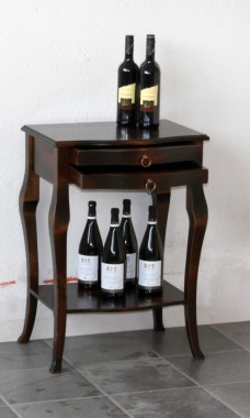 beistelltisch kolonial nachttisch mit klappe nachtkommode holz massiv. Black Bedroom Furniture Sets. Home Design Ideas