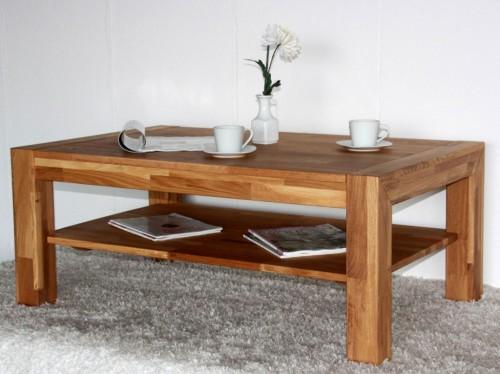 massivholz couchtisch eiche ge lt 110x70 wohnzimmertisch beistelltisch. Black Bedroom Furniture Sets. Home Design Ideas