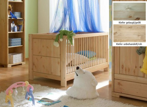 massivholz babybett gitterbett kinderbett kiefer massiv holz gelaugt ge lt. Black Bedroom Furniture Sets. Home Design Ideas